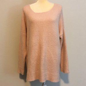 Dreamers cross back blush sweater